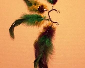 Mardi Gras Feather Ear Cuff