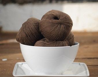 Diamond Fibers Cashmere Lace Yarn - Chocolate
