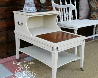 forsythia off white midcentury side tables nightstands