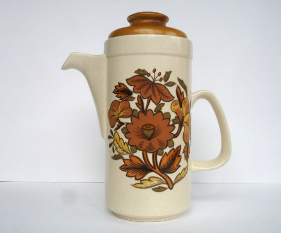 1970s Palissy Kismet Coffee Pot Vintage Tea Pot Vintage Home