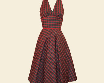 Handmade 1950s Halter Swing Dress