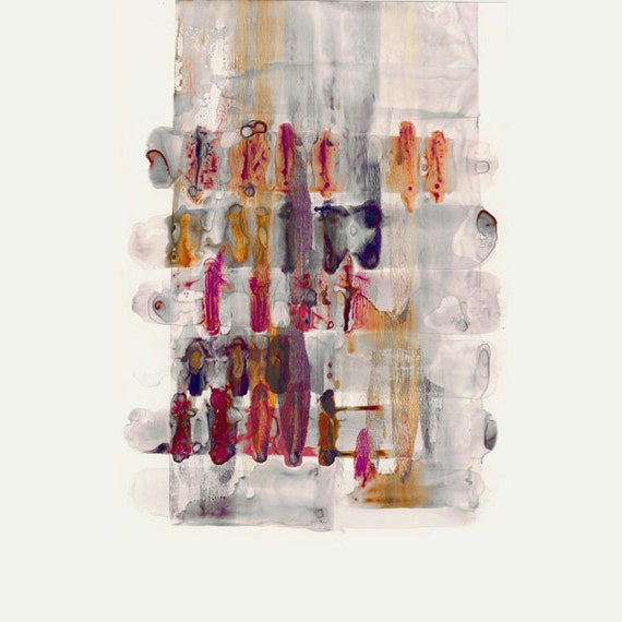 Plum Purple Grey Painting Kitchen Canvas Pictures: Purple Plum Orange Grey Abstract Art Painting Canvas Art