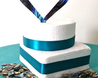 Heart design cake topper