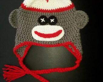 Sock Monkey Beanie