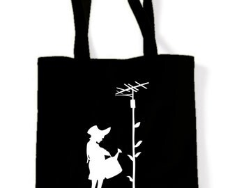 Banksy Watering Can Girl Shopping Bag