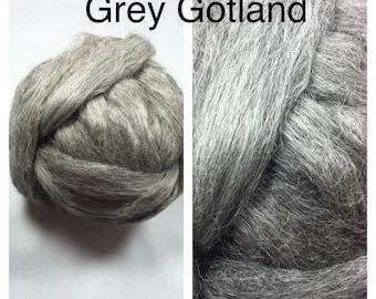 Grey Gotland Roving / Gotland Roving Undyed / Gotland Roving Felting / 1lb / 16oz