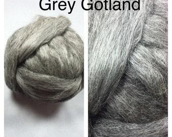 Grey Gotland Roving / Gotland Roving Undyed / 5lbs