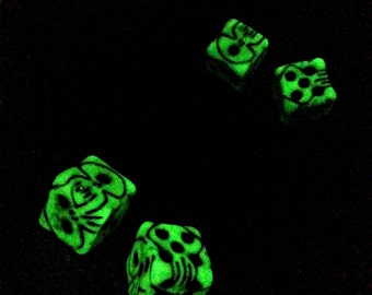 "Oogie Boogie's Dice, Glow In The Dark Prop Replica from Disney and Tim Burton's ""The Nightmare Before Christmas."""