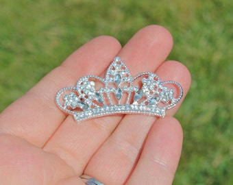 Flatback Rhinestone Tiara Crown Embellishment-  Set of 3