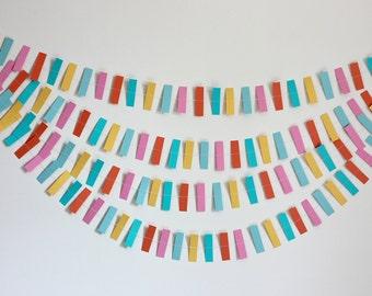 Paper Garland - Multi-colored Confetti - 10ft.