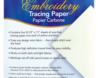 DMC Embroidery Tracing Paper - 4 sheets of wax free tracing paper