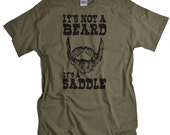 Fathers Day Gifts for Dad Funny Beard tshirt - It's Not a Beard It's a Saddle shirt for Men Beard Tee shirt guys shirt gift for husband