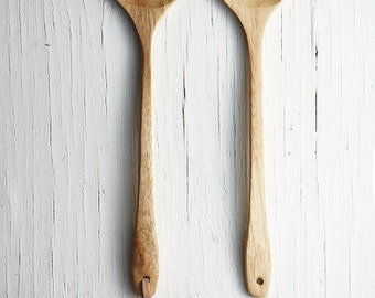Wooden Spatula with Leather Strap