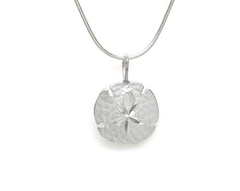 Sterling Silver Sand Dollar Sea Life Pendant Charm Customize no. 2014