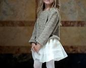 Girls Holiday off-white Silk Organza BRIGHTON Skirt - Lilla Grey F/W '13 Pompeii Dreams Collection