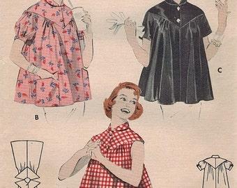 1950s Butterick 7395 Vintage Sewing Pattern Misses Smock Size 12 Bust 30
