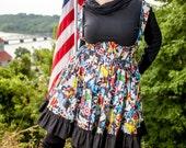 Plus Size Comic Book Marvel Dress- Adult Halloween Costume-  Captain America Iron Man Jumper - Custom to Your size 3XL-5XL
