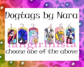 MLP Princesses and Faves dogtags set