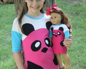 Katy Panda DOLLY Knit Dress PDF Sewing Pattern Sized for 15 and 18 inch dolls