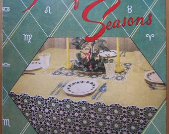 Crochet Tablecloth Patterns in Lily Mills' Tablecloths for the Seasons, Book No. 57, 1951, 10 Vintage 1950s Patterns