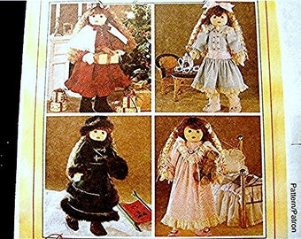 McCalls Pattern, 18 inch Doll Clothes Pattern, UNCUT Victorian Clothes Coat Dress Nightgown fits 18 inch American Girl Doll