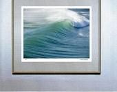 surf decor hawaiian decor hawaiian art surf board surf art Blue Wave 24x30 Hand Numbered Edition Fine Art Photograph Cambria Verlangieri