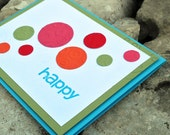 Happy Dots All Occasion {Mostly Blank} Card
