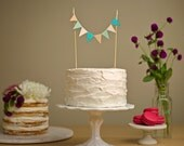 Custom Cake Bunting - Wedding Cake Topper