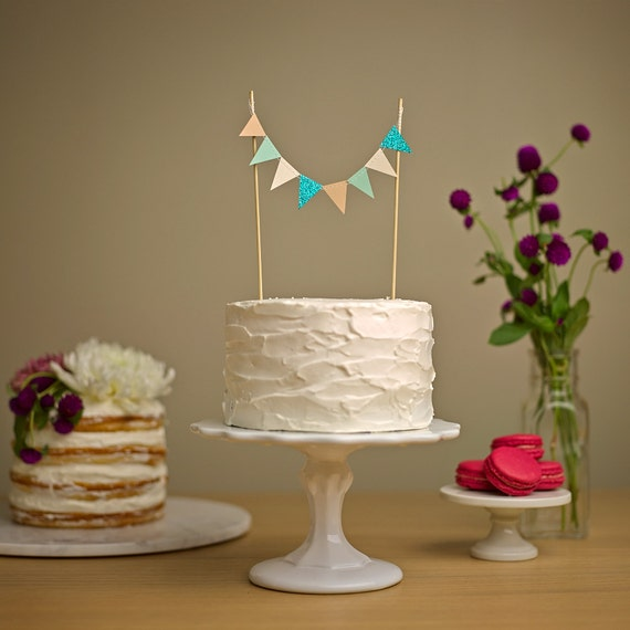 Custom Cake Bunting - Wedding Cake Topper