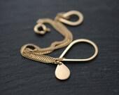 Golden Vermeil or Silver raining droplets bracelet