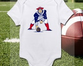 N.E. Patriots themed bodysuit or tee