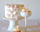 24 EDIBLE Baby Pink or Blue Butterflies  -  Cake & Cupcake toppers - Food Decorations - PRECUT and Ready to Use