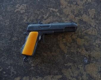 LUGER Gun Metal Police Pistol Fun Charm Gun Pendant Piece