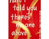 "8""x10"" Print // Van Morrison Song Lyrics // 6""x10"" Image // Colorful Wall Decor // Red, Gold, White Letters, Music as Art"