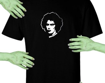 Voodoo Sugar Rocky Horror Picture Show Frank N Furter Men's / Unisex Black t-shirt Plus Sizes Available
