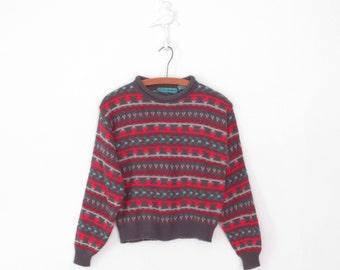 Boxy Sweater * 90s Sweater * Vintage Pullover Sweater * Medium