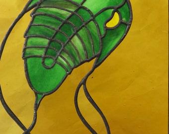 Stained Glass Trilobite Panel Window  Made to order