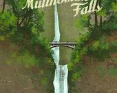 Visit Multnomah Falls Print