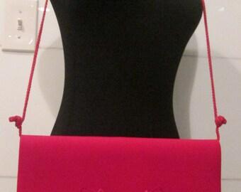 The Red Formal Handbag. Red Clutch Purse.  Red Shoulder  Bag.