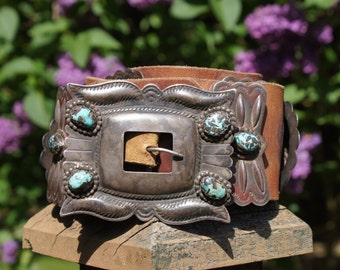 Early 1900's Native American Concho Belt Cowboy