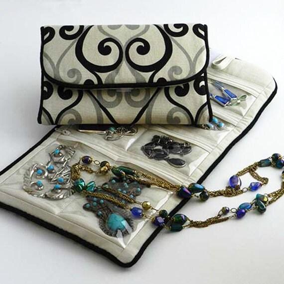 Jewelry roll travel storage case for organizing jewelry for Wedding dress travel case