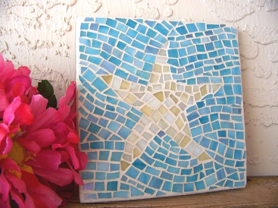 Starfish Wall Art Sea Star Wall Hanging Glass Mosaic Art