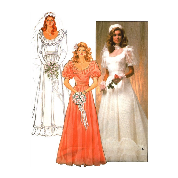 Items similar to 1970s wedding dress pattern uncut bust 34 for Butterick wedding dress patterns