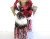 Knitted Scarf /Knitting scarf /Gifts For Her /Men Scarf /Women Scarf /Long Scarf /Hand Knitted Scarves /Christmas Gifts / Accessories