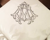 Wedding Cocktail Napkins - Beverage Napkin 200 - Use your own artwork  - custom cocktail napkins