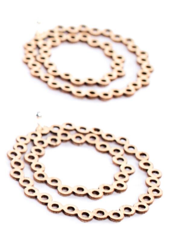 Iskin Abstraction Earrings - Leather - Laser Cut - Contemporary Jewelry - Loop Earrings