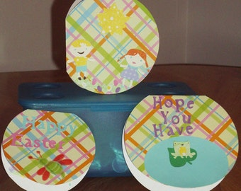 Easter Card Set - Set of Three Easter Cards - Childrens Easter Cards-  Easter Cards - Happy Easter - Easter