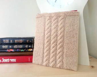Knit Cabled iPad Cozy