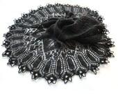 Black Knit Shawl, Goth Knit Shawl, Lace Shawl, Black Lace Shawl, Knit Lace Shawl, Black Lace, Knit Lace, Made to order