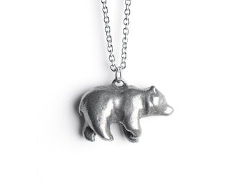 Animal Jewelry, Bear Totem, Bear Necklace, August / September Totem, Virgo